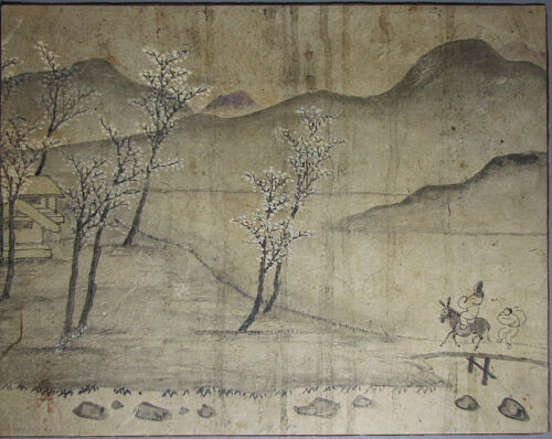A  Fine and Old Korean early Spring Landscape Painting-18th - 19th C
