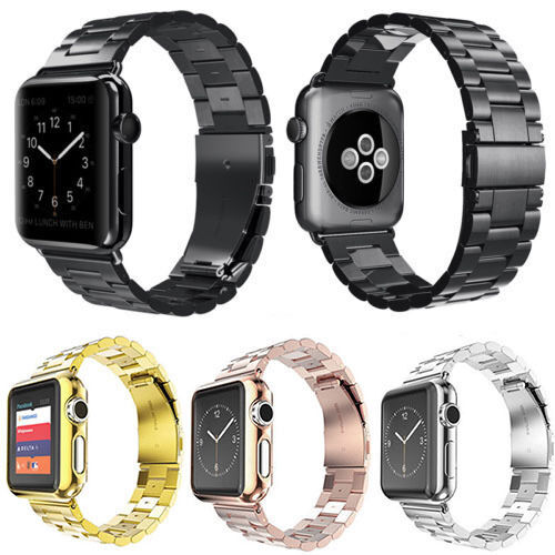 Stainless Steel Bracelet iWatch Band Clasp for Apple Watch Series 2/1 42mm 38mm