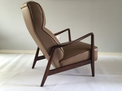 Mid Century Early DUX Folke Ohlsson Lounge Chair With Ottoman