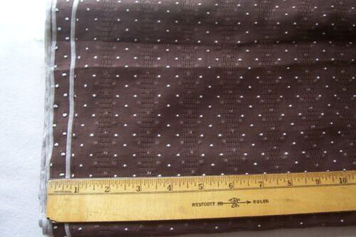 Vtg 40's Tufted Dotted Swiss Cotton fabric 4 Doll Dress 34w