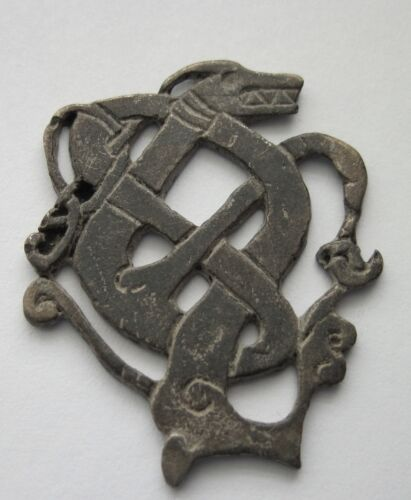 Silver Amulet Depicting a Viking Dragon