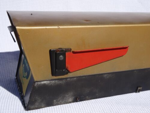 Mid Century Modern Metal Mailbox Leigh Building Products Atomic 50's Original