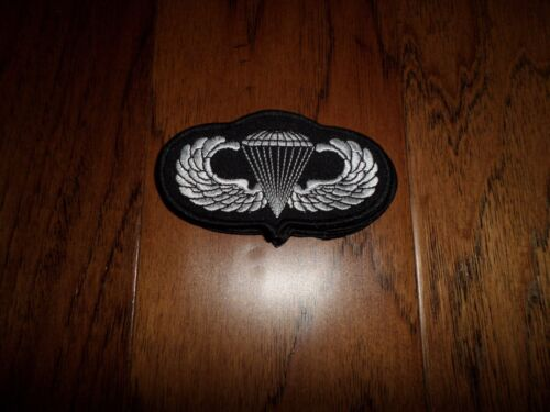 """U.S MILITARY ARMY AIRBORNE JUMP WINGS EMBROIDERED PATCH 4"""" X 2""""Patches - 36078"""