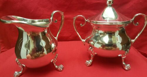 The Sheffield Silver Co. Made in the USA #64 Silverplate Creamer & Sugar Bowl