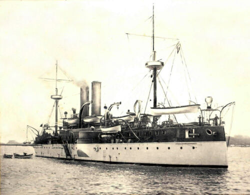 1898 Photo USS Maine in Havana Harbor, Shortly before Explosion  8x10 PhotoReproductions - 156386