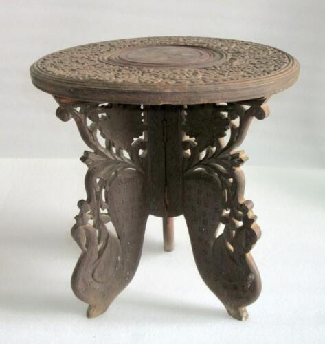 Carved Wood Table India Antiques Us