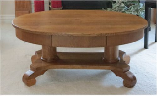 Antique Empire Oak  Library/Cocktail Table or Coffee Table 1900's
