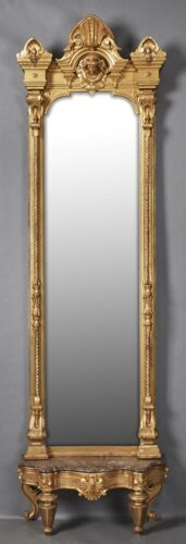 American Aesthetic Gilt and Gesso Pier Mirror, c. 1880, possibly New ... Lot 595