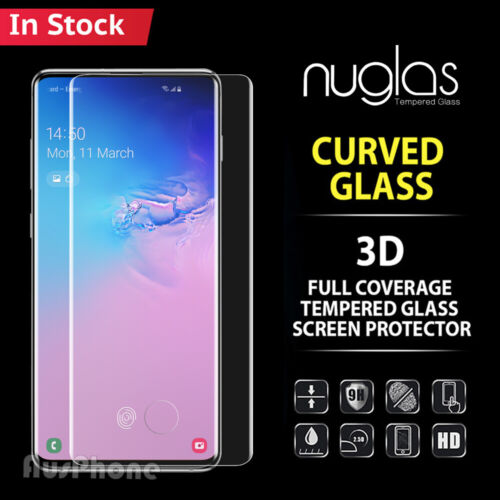 Galaxy S10 5G S9 S8 Plus Note 9 8 NUGLAS Tempered Glass Screen Protector Samsung <br/> ◆ S10/ S10 Plus in STOCK ◆ Case Friendly!! ◆ Full Cover