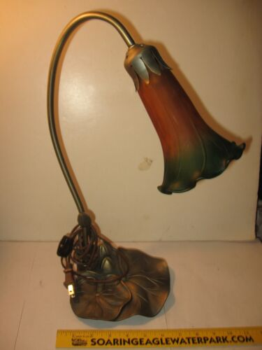 "ANTIQUE TIFFANY STUDIOS  LIGHT ""LILY "" LAMP reproduction 70's? works"