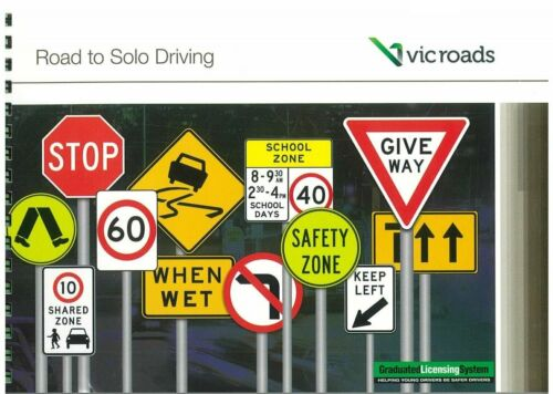 VIC ROADS Road To Solo Driving Car Learner Book Latest Edition 2018 April NEW