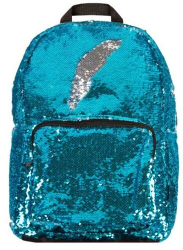 Magic Sequin! Reversible Sequin Backpack - Sparkling Turquoise to Shiny Silver!