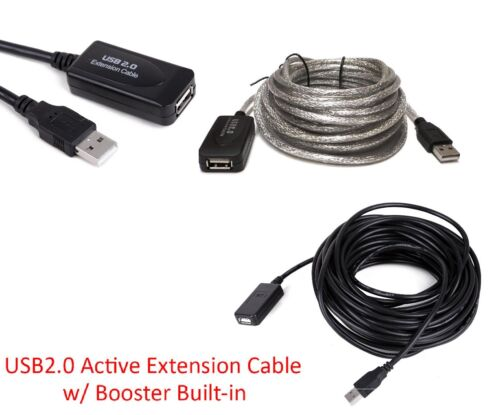 Premium USB 2.0 Active Repeater Male To Female Extension Cable Extender Cord US