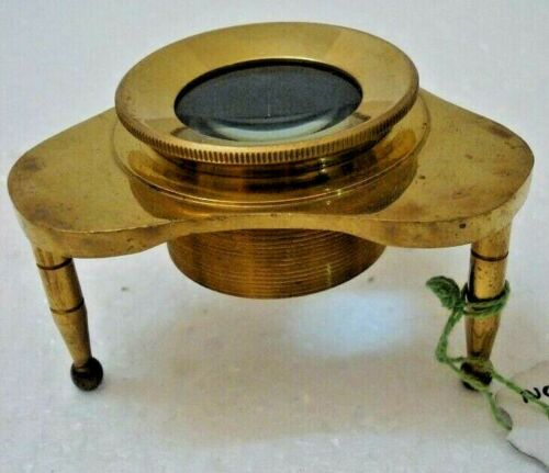 LARGE - ROSS LONDON Brass MAGNIFYING Glass – LARGE - RARE (2000)