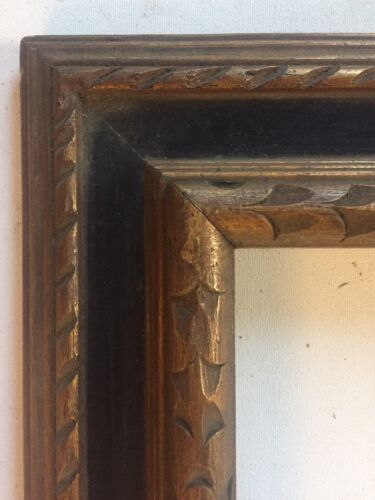 Antique Modernist Carved  Large Picture Frame  Mid Century 15.5 X 19.5