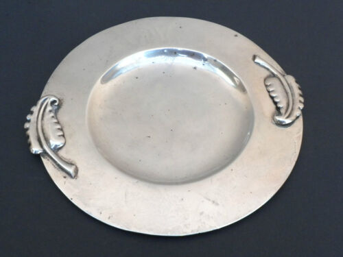 LOS CASTILLO vintage Mexican Sterling Silver Tray Taxco 94 grams Eagle 15