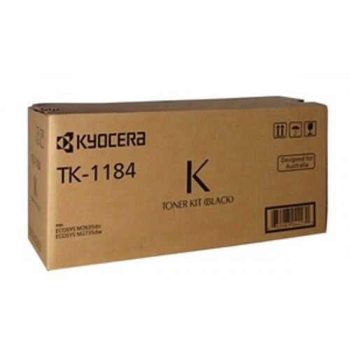 Kyocera Genuine TK-1184 Black Toner For ECOSYS M2735DW M2635DN - 3,000 Pages