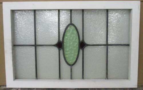 """LARGE OLD ENGLISH LEADED STAINED GLASS WINDOW Pretty Abstract Elipse 31"""" x 20"""""""