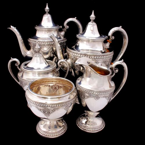 RARE Wallace Sir Christopher Sterling Silver Tea and Coffee Set 4050