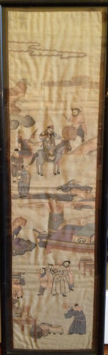 A Large and Rare Framed Chinese Qing Dynasty Kesi Panel.