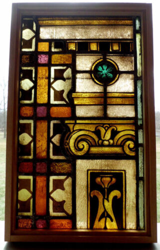 Antique Church Stained Glass Window Architectural Salvage German Mayer 1924 A6