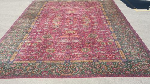 """13' x 24'6"""" 19th Century Indian Agra Oriental Rug, Mansion / Palace Size, HUGE!"""
