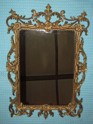 Vtg Large TURNER Ornate Floral Wall Mirror ~Hollywood Regency