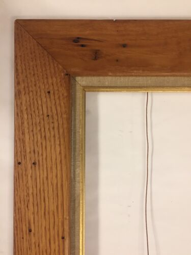 Antique Modernist Wormwood   Large Picture Frame  Mid Century 20 X 24
