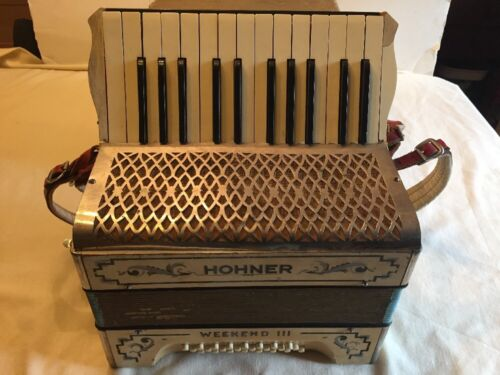 Rare Old Antique HOHNER WEEKEND III ACCORDION Signed by Paul Robeson - Signature