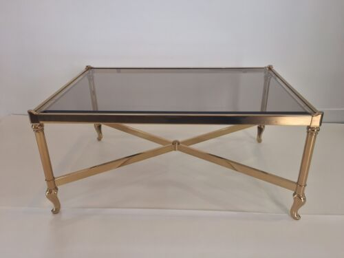 Vintage Solmet Brass Coffee Table Made In Italy