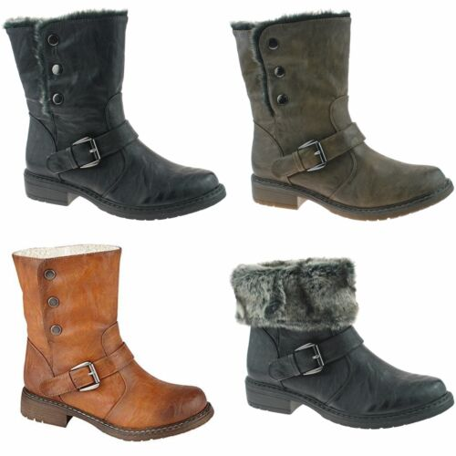 Cipriata Warm Lined Ankle Ladies Boots L830