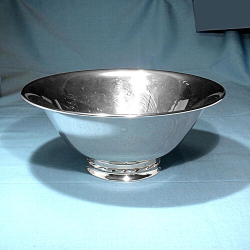 "TOWLE STERLING 9"" VEGETABLE BOWL #123 ~ SILVER FLUTES ~ NO MONO"