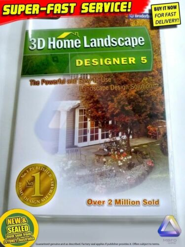 3D HOME LANDSCAPE software for Windows PC CAD design drafting landscaping garden