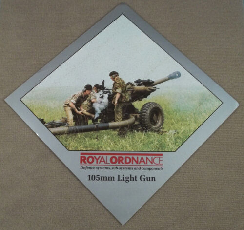 Military Defense Contractor Decal - Sticker Royal Ordnance Factories 105MM LGOther Militaria - 135