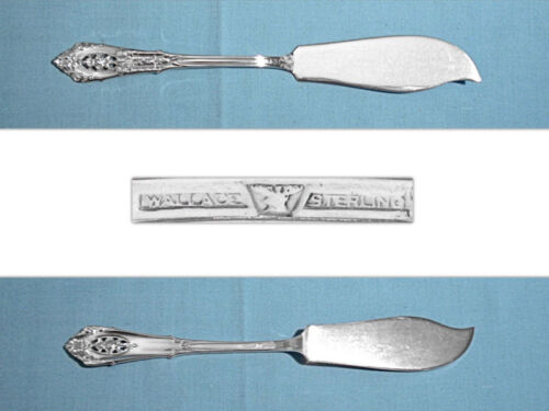 WALLACE STERLING FLAT HANDLE MASTER BUTTER ~ ROSE POINT ~ NO MONO