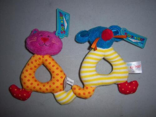 NEW BABY SHOWER GUND SOCK HOP RATTLE TEETHER