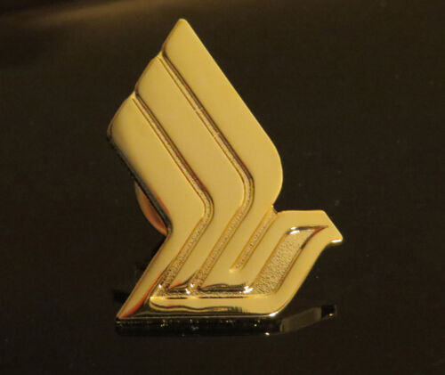 Pin Singapore Airlines golden metal Pin for Crew, Pilots, Ground Staff