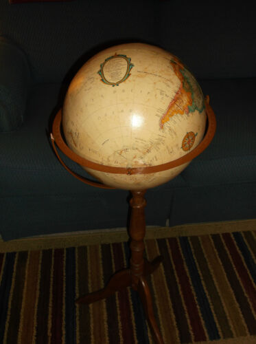 "Replogle 12"" Diameter World Classic Series Globe w/ Wood Tri Legs  FREE SHIPPING"