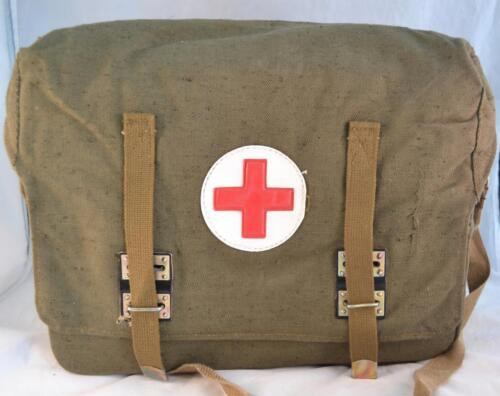 Authentic Soviet Russian Army Medic Bag Case Red Cross USSR First Aid Rare NewOriginal Period Items - 13983