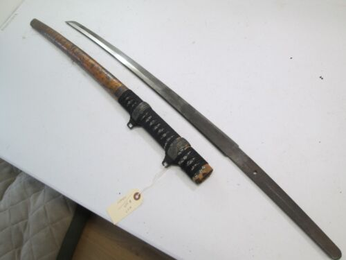 JAPANESE TACHI SAMURAI SWORD WITH SCABBARD SIGNED TANG #N27