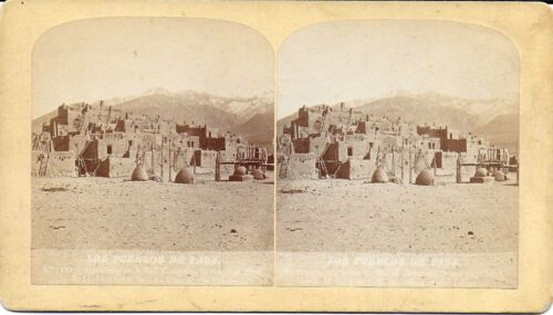 Byron H Gurnsey Stereoview of the Pueblos of Taos New Mexico 1870s