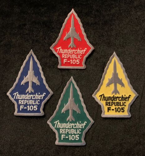 4 x F-105 Thunderchief Patches USAF Thud Vietnam War Century Series FighterAir Force - 48823