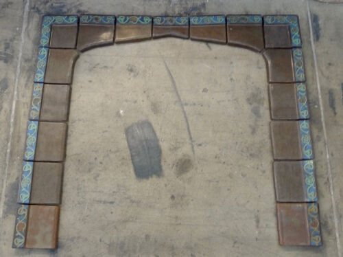 S & S Vintage 17 pc. Fireplace Surround California Arts & Crafts/Brown