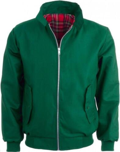 Harrington Jacket,  Green Mod Retro Bomber - Relco