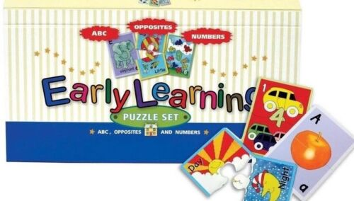 Early Learning Puzzle Set Spice Box Numbers ABC Opposites