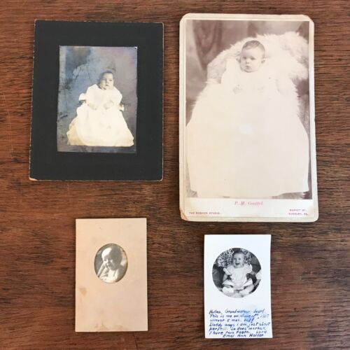 Lot of (4) Vintage Black & White Photographs of Babies