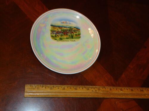 "VINTAGE Antique 6"" SAUCER, PLATE, Dish, SCHWARZA/THUR, MOTHER OF PEARL GERMANY"