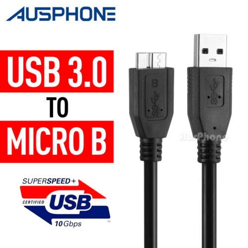 For External Hard Drive HDD SuperSpeed USB 3.0 Male A to Micro B Cable Cord  AU