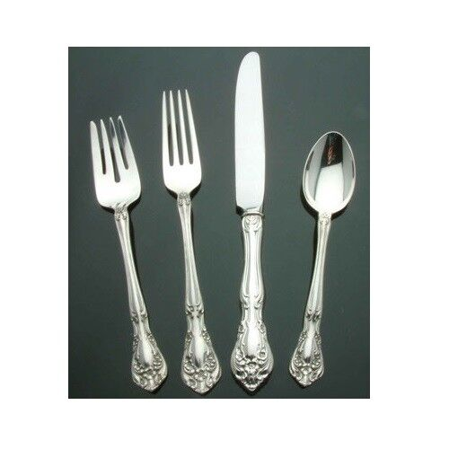 Chateau Rose by Alvin Sterling Silver - 4 piece Place Setting French Blade Kf