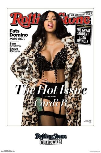 CARDI B - ROLLING STONE COVER POSTER - 22x34 - MUSIC 16450
